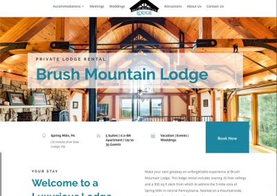 Brush Mountain Lodge Website