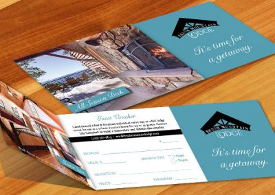 Brush Mountain Lodge Voucher Design