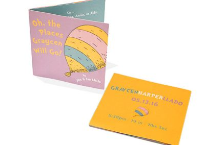 Baby Announcement Tri-fold Design