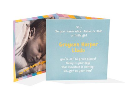 Baby Announcement Tri-Fold Inside