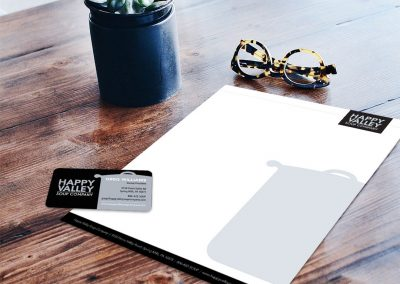 Happy Valley Soup Company Letterhead + Business Card