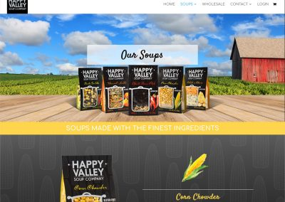 Happy Valley Soup Company Website Design