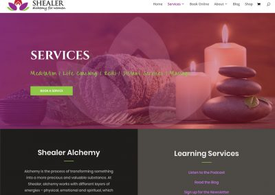 Shealer Alchemy for Women Website Design