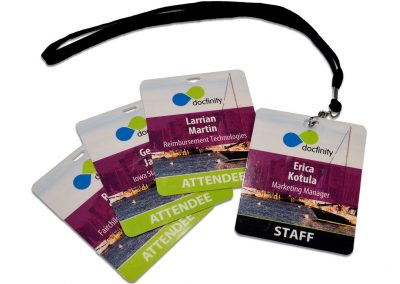 2015 DocFinity User Conference Badges
