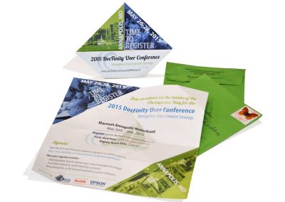 2015 DocFinity User Conference Sailboat Shaped Invite