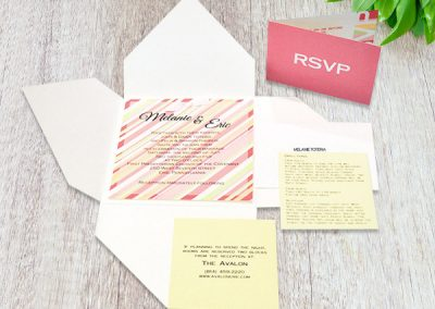 Wedding Invitation, Directions and RSVP