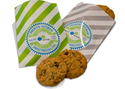 Tradeshow Booth Branded Cookie Sleeves