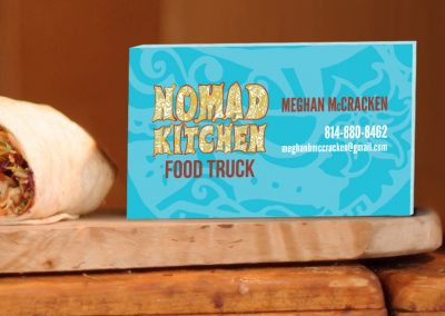 Nomad Kitchen Business Card and Logo