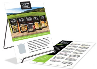 Happy Valley Soup Company Spec Sheets