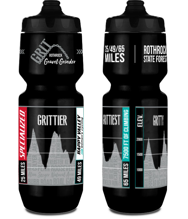 Rothrock GRIT Gravel Grinder Waterbottle Design