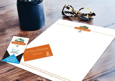 Hidden Lake Lodge Business Card & Letterhead
