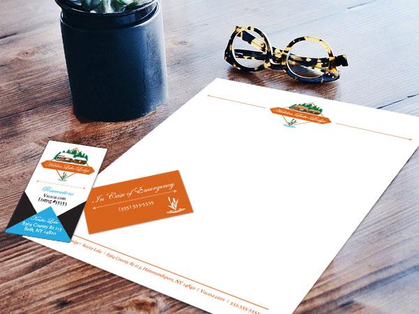 Hidden Lake Lodge Business Card & Letterhead