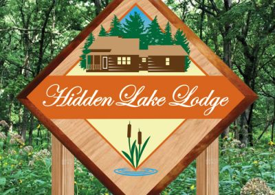 Hidden Lake Lodge Sign Design