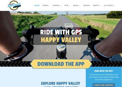 CentreBike Ride with GPS Happy Valley Website Screenshot