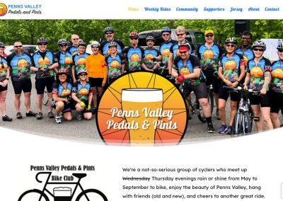 Penns Valley Pedals and Pints Website